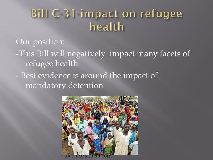 Bill C-31-impact on refugee health