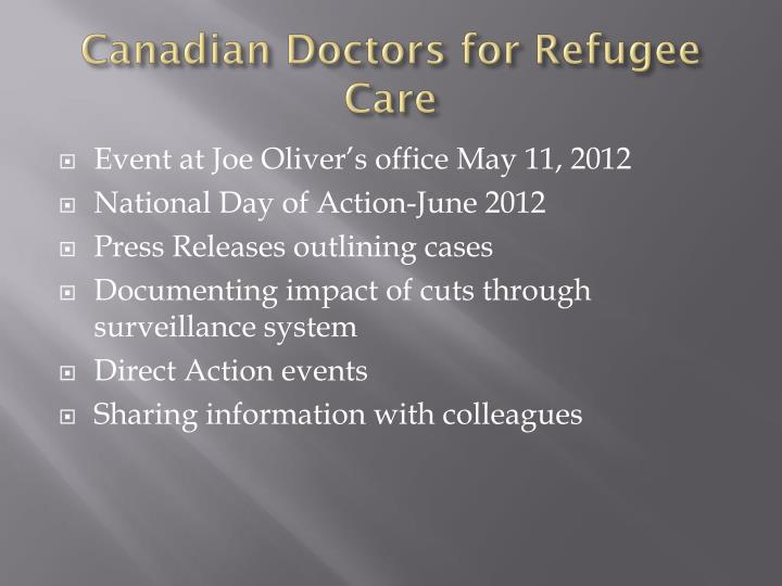 Canadian Doctors for Refugee Care