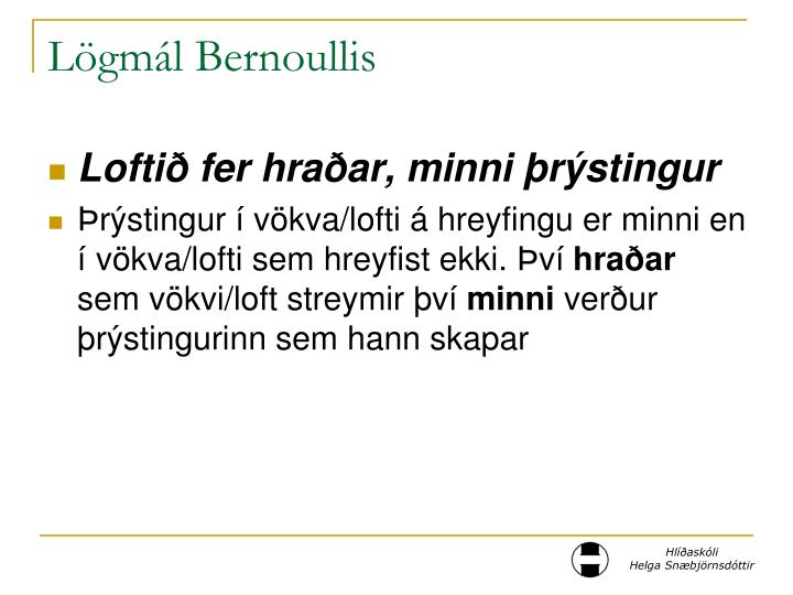 Lögmál Bernoullis
