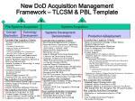 new dod acquisition management framework tlcsm pbl template