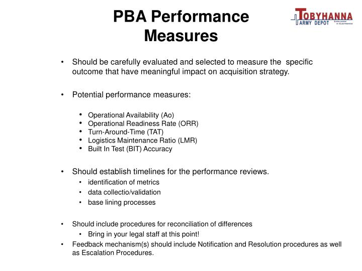PBA Performance Measures
