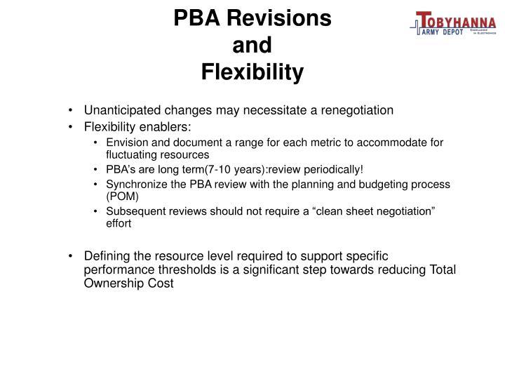 PBA Revisions