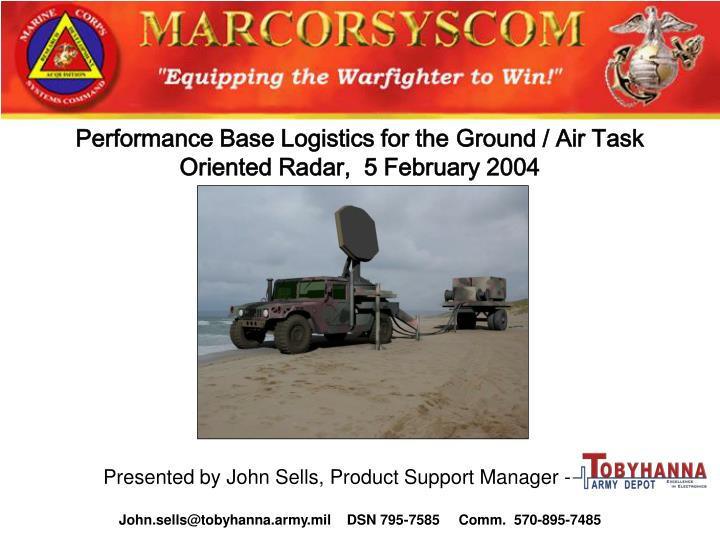 Performance Base Logistics for the