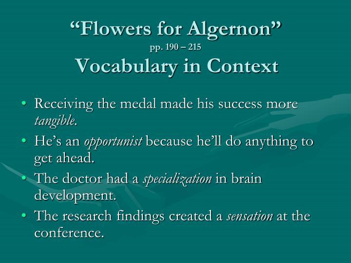 """""""Flowers for Algernon"""""""