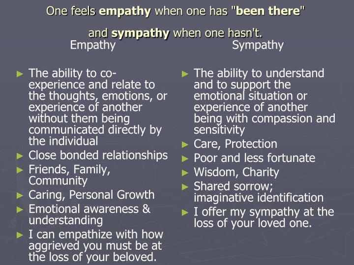 Sympathy