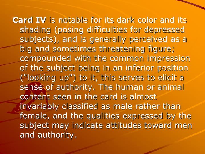 Card IV