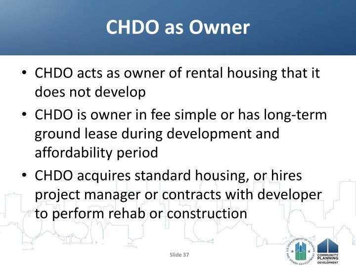 CHDO as Owner