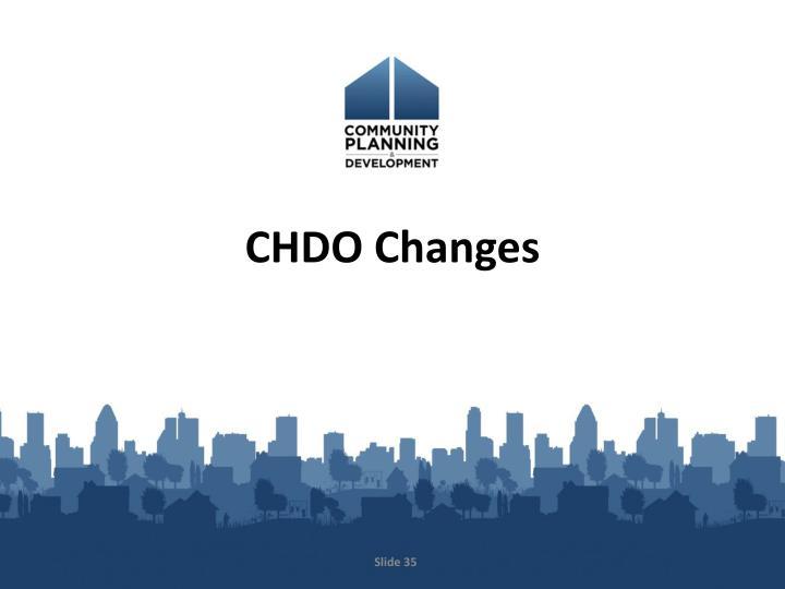 CHDO Changes