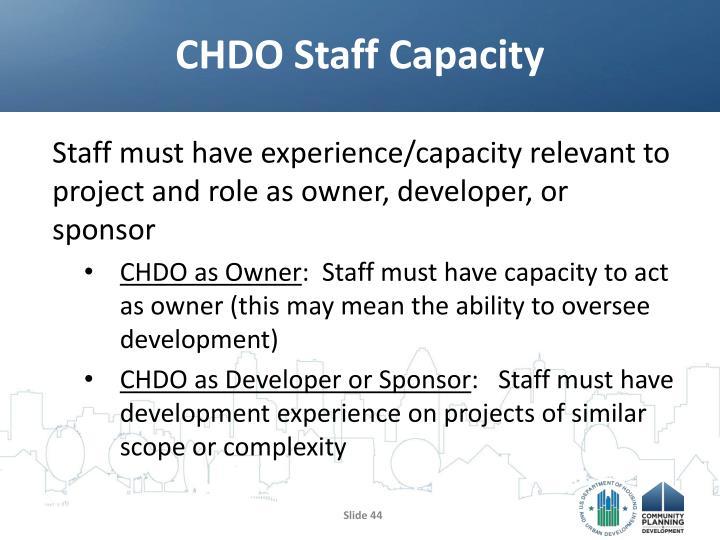 CHDO Staff Capacity