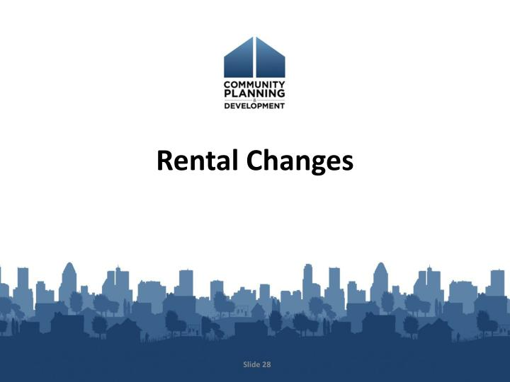 Rental Changes