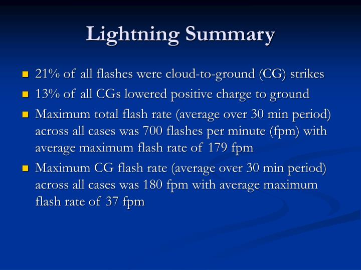 Lightning Summary