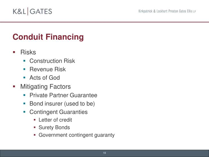 Conduit Financing