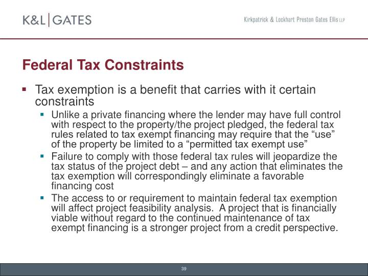 Federal Tax Constraints