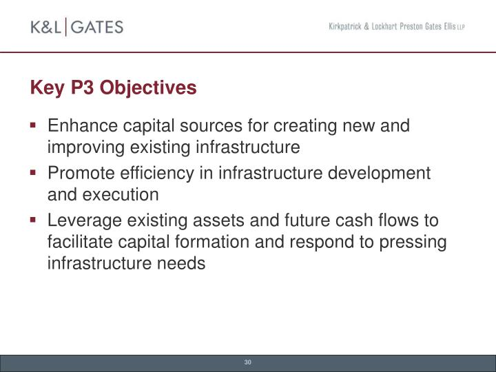 Key P3 Objectives