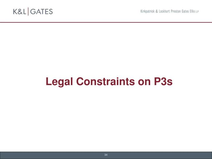 Legal Constraints on P3s