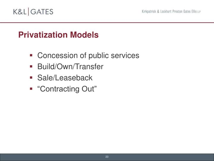 Privatization Models