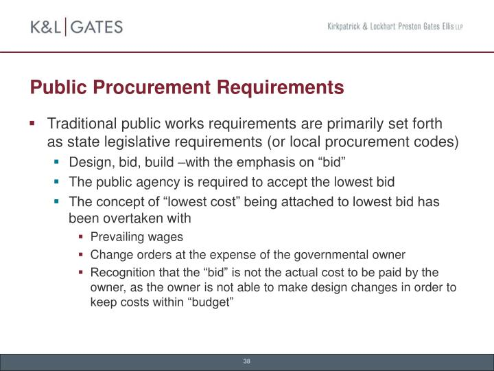 Public Procurement Requirements
