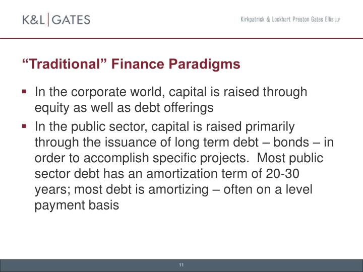 """Traditional"" Finance Paradigms"