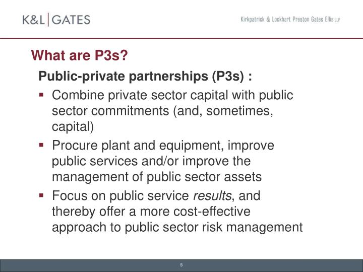 What are P3s?