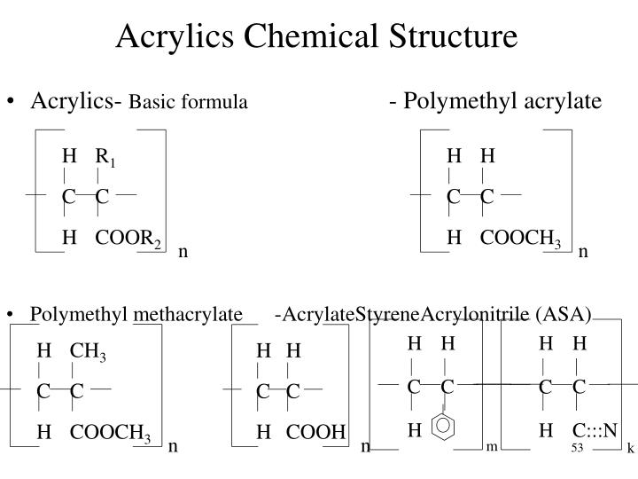 Acrylics Chemical Structure