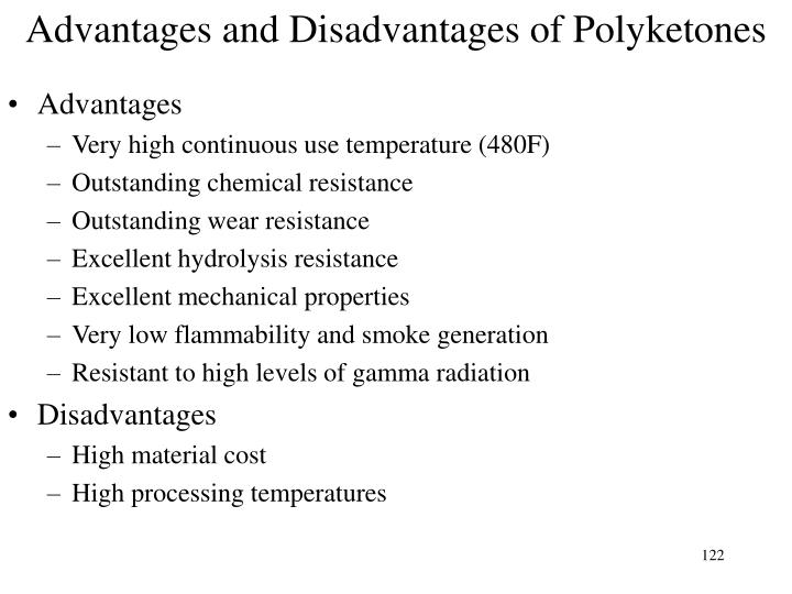 Advantages and Disadvantages of Polyketones
