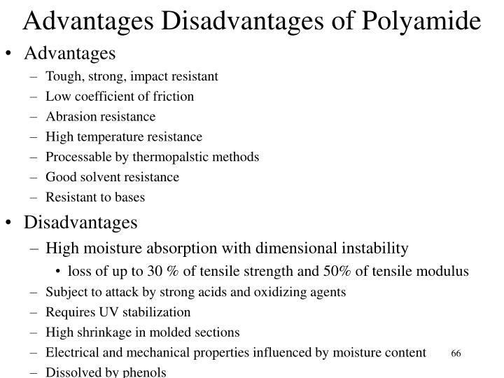 Advantages Disadvantages of Polyamide
