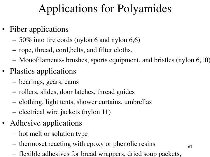 Applications for Polyamides