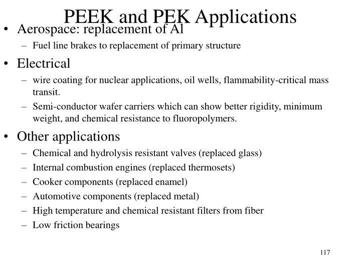 PEEK and PEK Applications