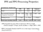 pps and ppo processing properties