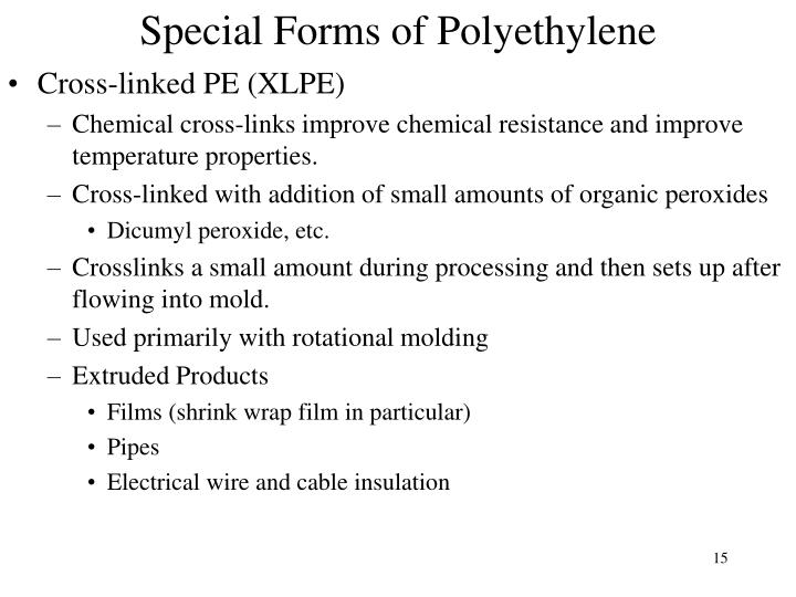 Special Forms of Polyethylene