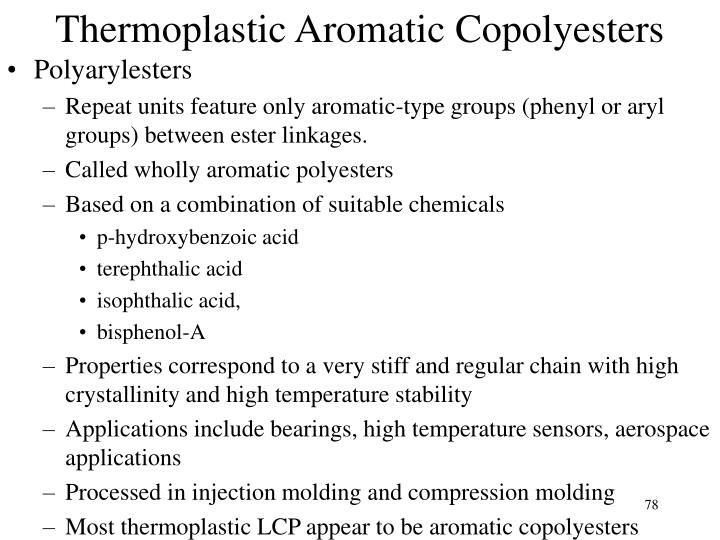 Thermoplastic Aromatic Copolyesters