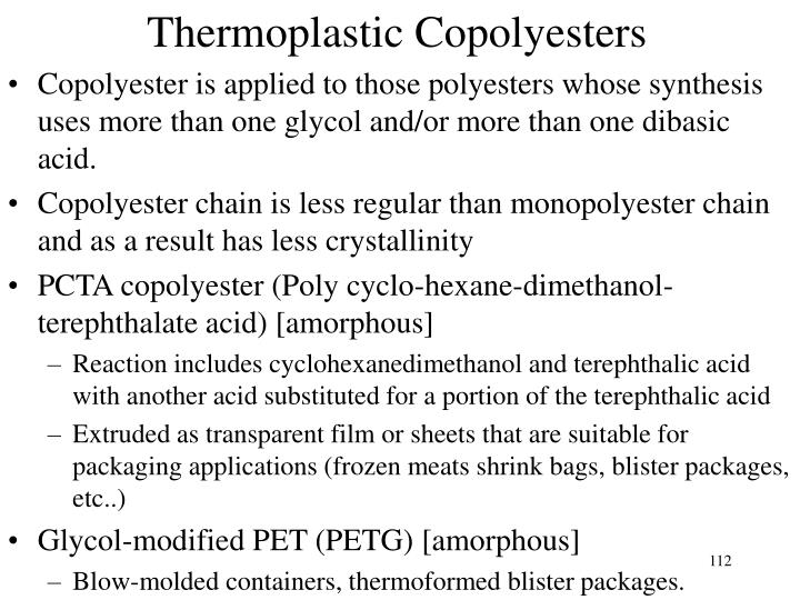 Thermoplastic Copolyesters