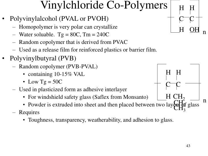 Vinylchloride Co-Polymers