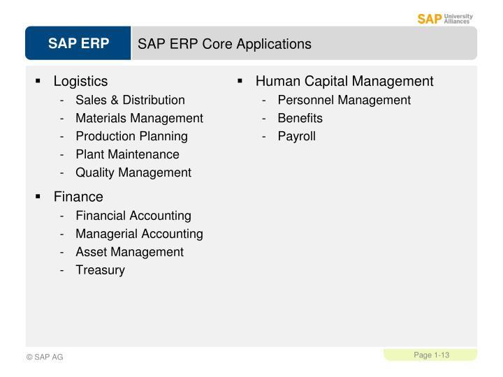SAP ERP Core Applications