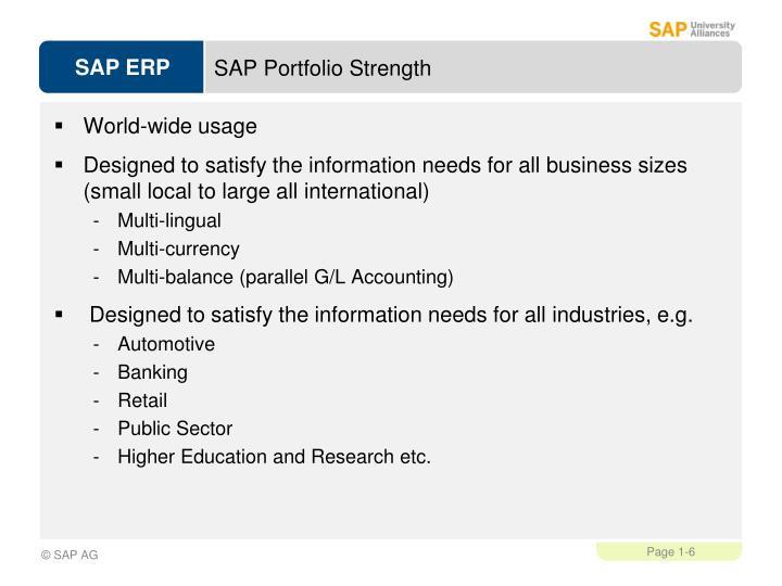 SAP Portfolio Strength