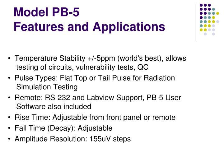 Model PB-5