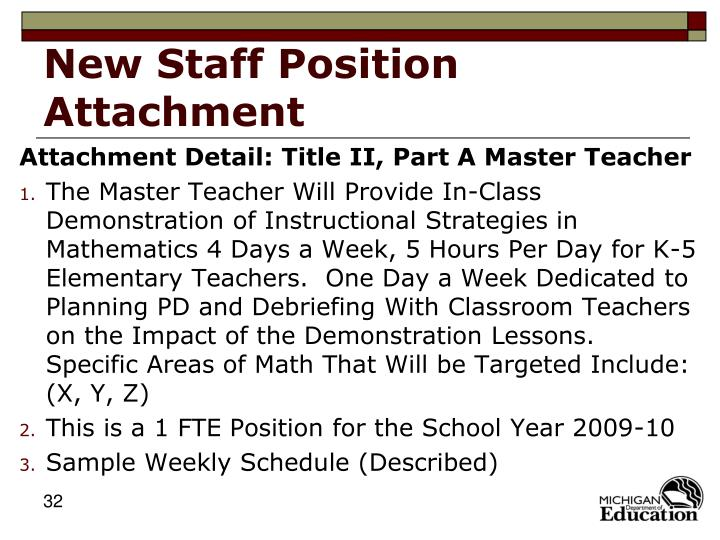 New Staff Position Attachment
