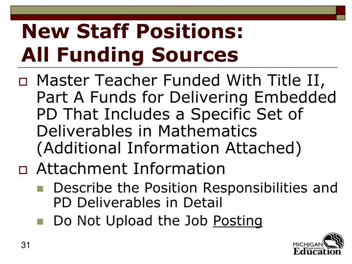 New Staff Positions: All Funding Sources