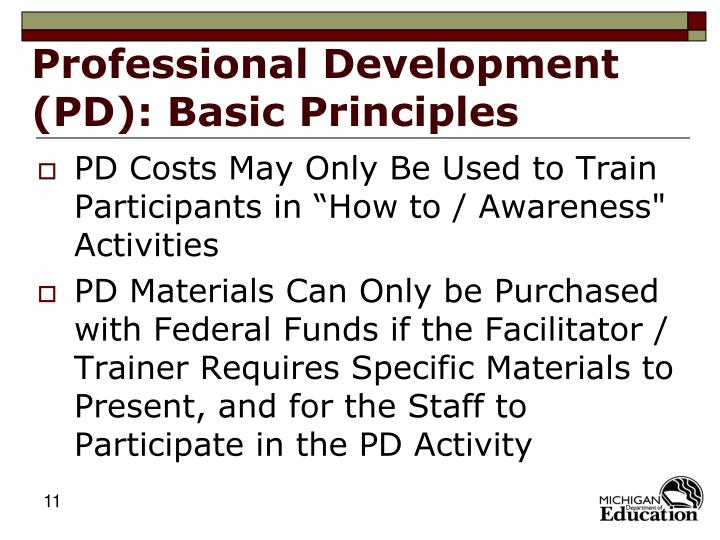 Professional Development (PD): Basic Principles