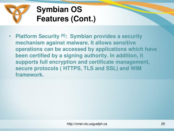 Symbian certificate and