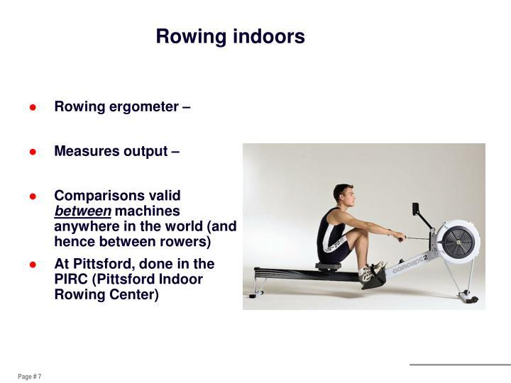 Rowing indoors