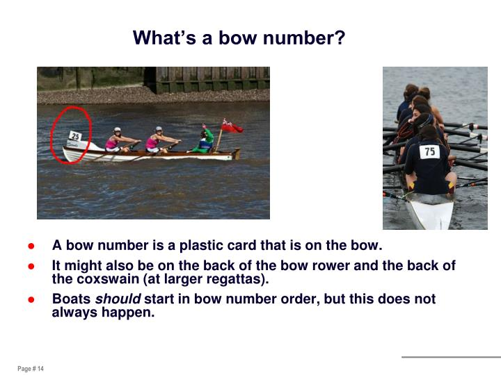 What's a bow number?