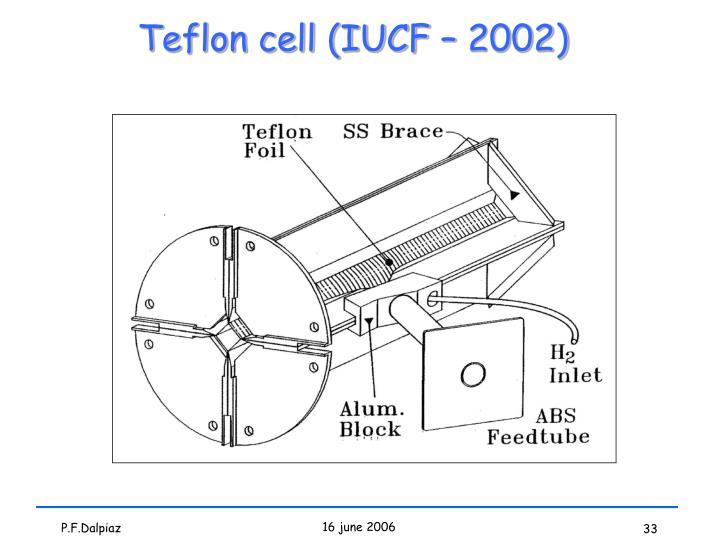 Teflon cell (IUCF – 2002)