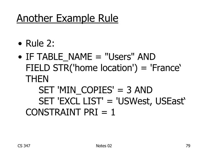Another Example Rule