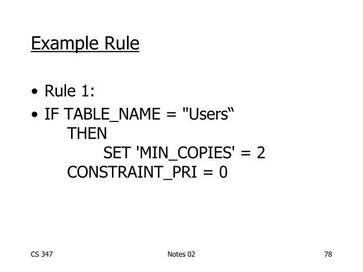 Example Rule