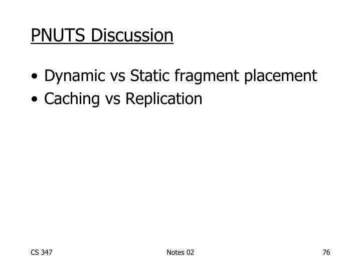 PNUTS Discussion
