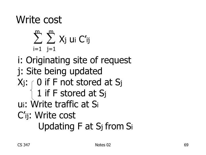 Write cost