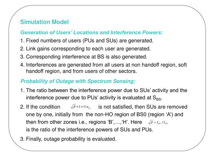 Simulation Model