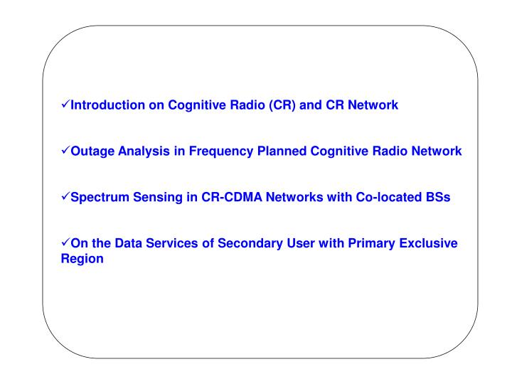 Introduction on Cognitive Radio (CR) and CR Network