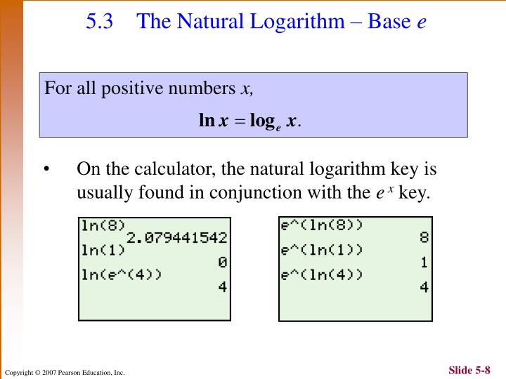 5.3 The Natural Logarithm
